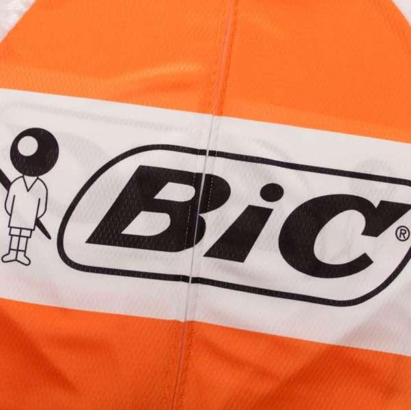 maillot cyclisme bic orange vintage anquetil