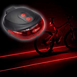 lampe piste cyclable lumière laser vélo
