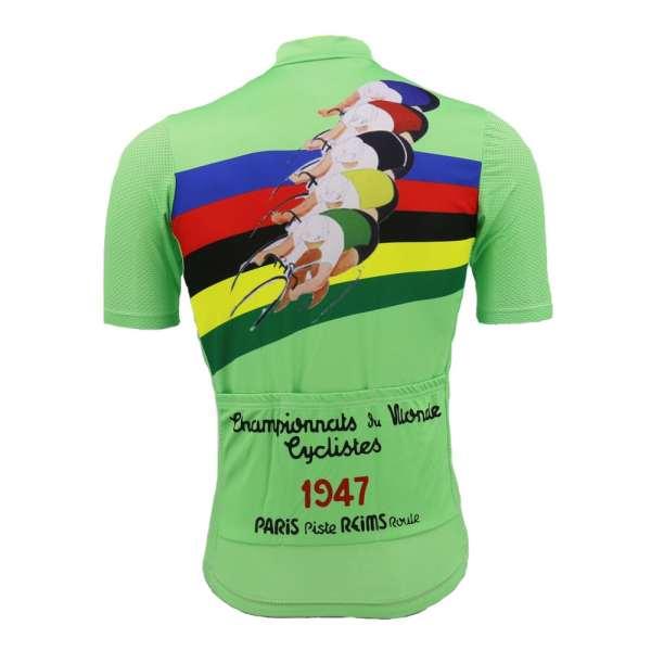 maillot vélo cyclisme vintage retro vert champion monde