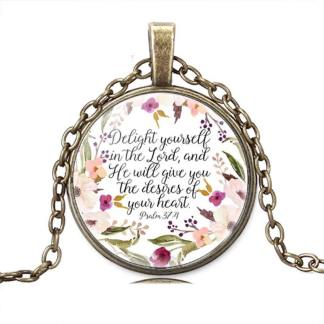 delight yourself in the lord necklace