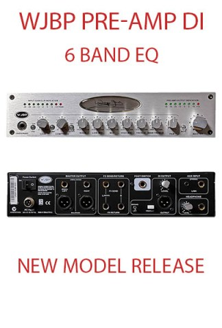 WJBP Stereo Valve Bass Pre-Amp DI for bass guitar players. All frequencies respond in the exact areas we need them. Basically 1 tone control set for each string in the prominent attack areas. Incredible separation between EQ points.