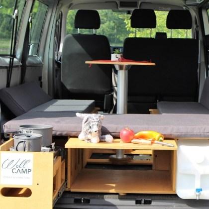 WellCAMP Camper Box – Sitzen, Kochen, Schlafen