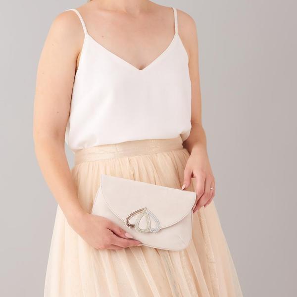 Handtasche Wildleder mit rosegold silber und gold Applikationen