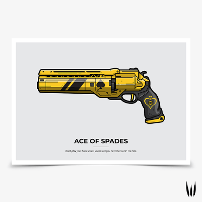 Destiny 2 Ace of Spades Big Blind hand cannon gaming poster designed by WildeThang