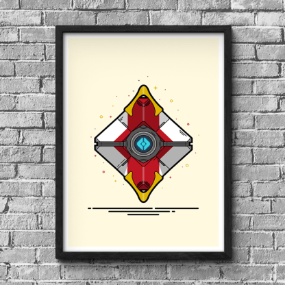 Destiny Cayde's Ghost Shell gaming poster by WildeThang