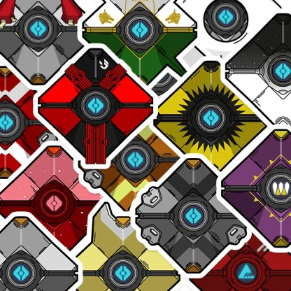 Destiny ghost shell die-cut vinyl stickers by WildeThang