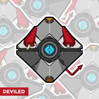 Destiny Deviled ghost shell sticker by WildeThang