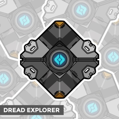 Destiny Dread Explorer ghost shell sticker by WildeThang