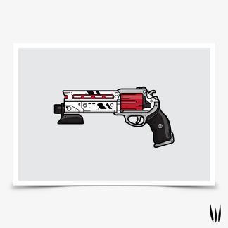 Destiny 2 Luna's Howl hand cannon gaming poster designed by WildeThang