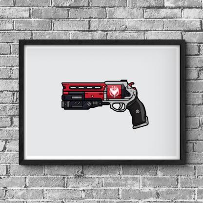 Destiny 2 Not Forgotten hand cannon gaming poster, destiny gift, gamer gift