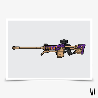 Destiny 2 The Supremacy sniper rifle gaming poster designed by WildeThang