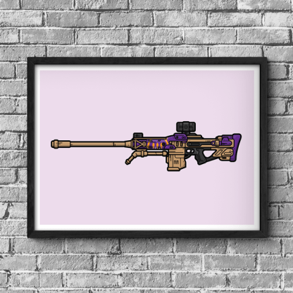 The Supremacy Sniper Rifle Destiny gaming poster by WildeThang