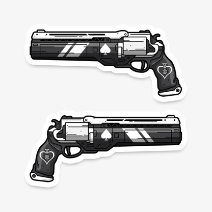 Destiny Ace of Spades vinyl die-cut gaming weapon sticker by WildeThang