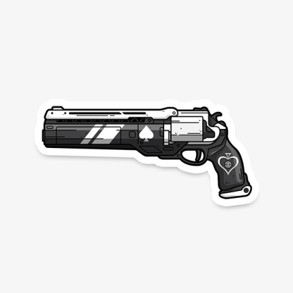 Destiny Ace of Spades vinyl die-cut gaming sticker by WildeThang