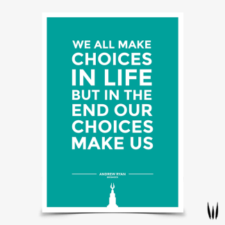 Bioshock Andrew Ryan Quote gaming poster by WildeThang