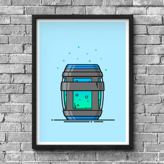 Fortnite Chug Jug gaming poster by WildeThang