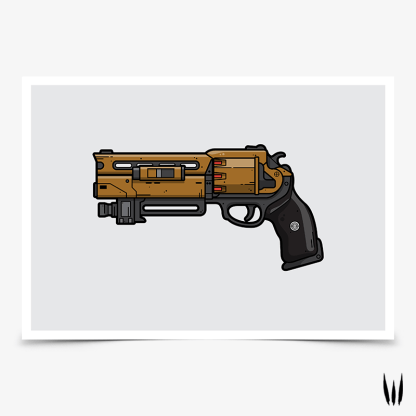 Destiny Fatebringer hand cannon gaming poster designed by WildeThang