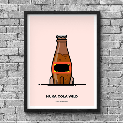 Fallout Nuka Wild gaming poster by WildeThang