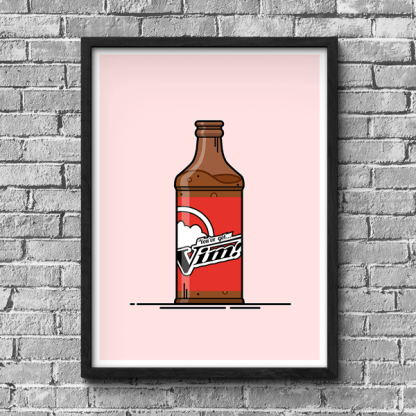 Fallout Vim gaming poster by WildeThang