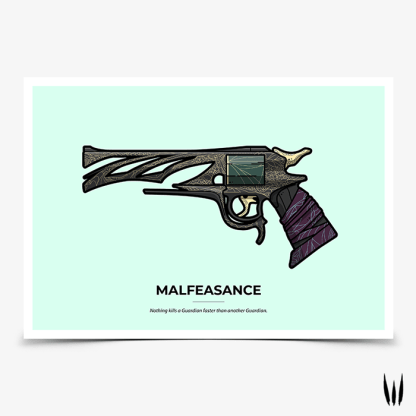 Destiny 2 Malfeasance gaming poster designed by WildeThang