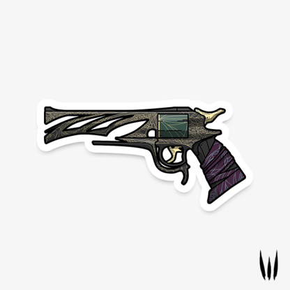 Destiny 2 Malfeasance exotic hand cannon vinyl sticker designed by WildeThang