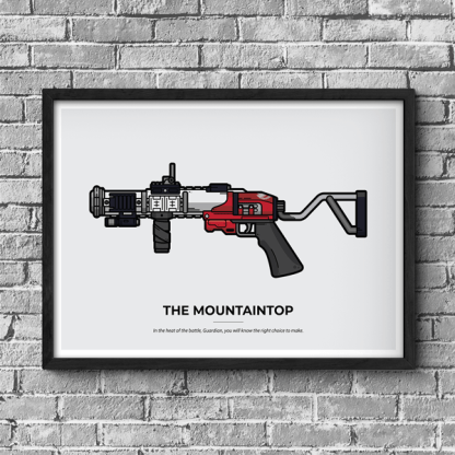 Destiny 2 The Mountaintop gaming poster designed by WildeThang