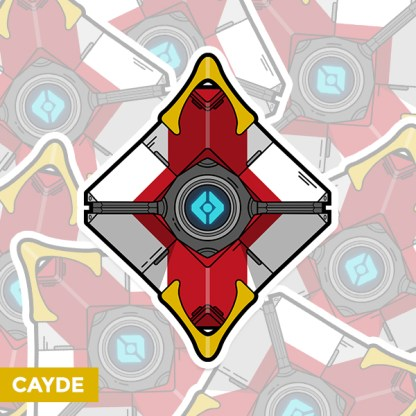 Destiny 2 Cayde's ghost shell vinyl sticker designed by WildeThang