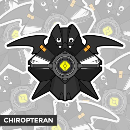 Destiny 2 Chiropteran ghost shell vinyl sticker designed by WildeThang