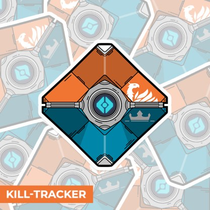 Destiny 2 kill tracker ghost shell gaming sticker designed by WildeThang