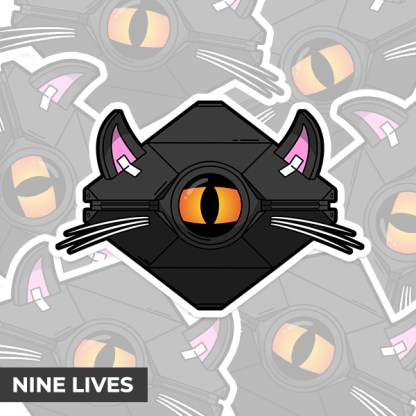 Destiny 2 Nine Lives ghost shell vinyl sticker designed by WildeThang