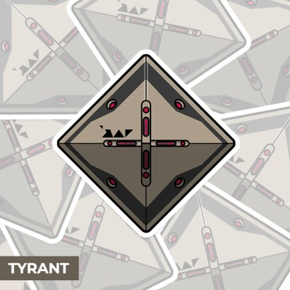 Destiny 2 Tyrant ghost shell vinyl sticker designed by WildeThang