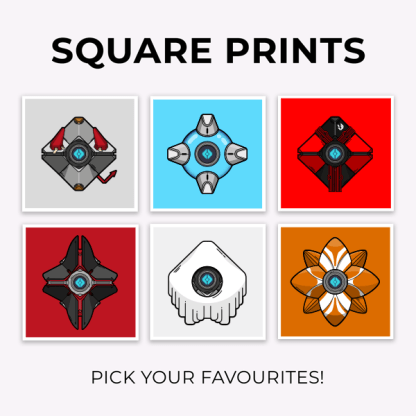 Destiny Square Weapon Prints designed by WildeThang inspired by Destiny the game