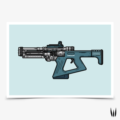 Destiny 2 Erentil fusion rifle gaming poster designed by WildeThang
