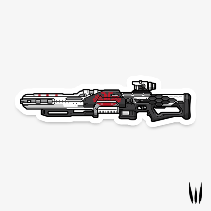 Destiny 2 Revoker sniper rifle vinyl sticker designed by WildeThang