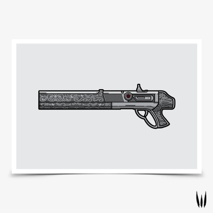 Destiny 2 Charperone exotic shotgun gaming poster designed by WildeThang
