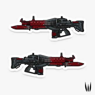 Destiny Red Death pulse rifle vinyl sticker designed by WildeThang