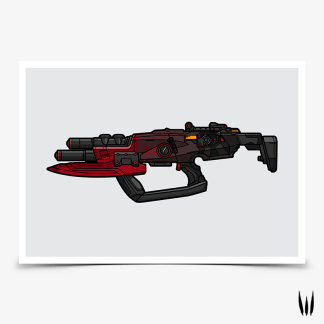 Borderlands Cutsman submachine gun gaming poster designed by WildeThang