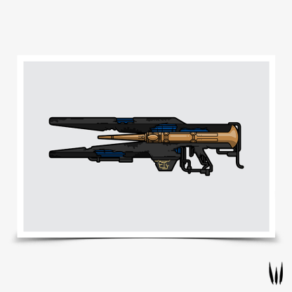 Destiny 2 Divinity exotic trace rifle gaming poster designed by WildeThang