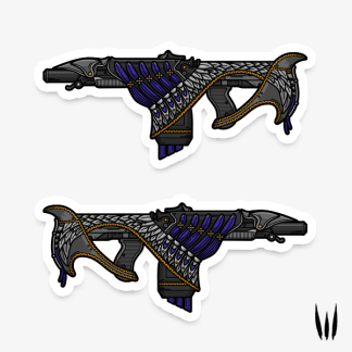 Destiny Bastion Gaming Sticker designed by WildeThang