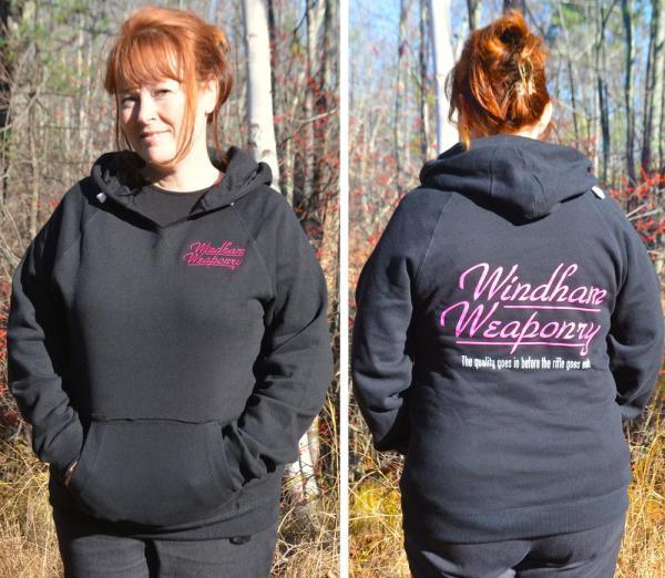 Windham Weaponry Black Hoodie V-Neck Sweat Shirt - for Women