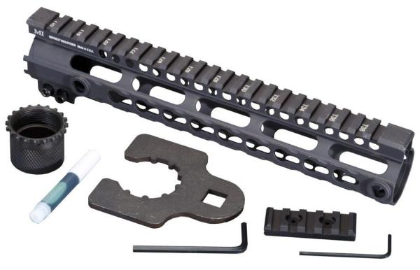 Midwest Industries SSK Key Mod 10 inch One Piece Handguard for AR15 / M16