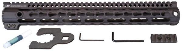 Midwest Industries Key Mod 15 inch One Piece Handguard for .308 AR10 platform rifles