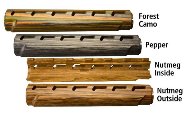Laminated Hardwood 2 Piece Rifle Length Forend for AR15 / M16
