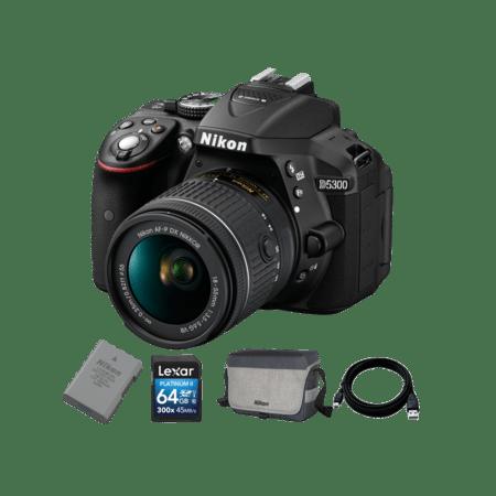 Nikon D5300 kit AF-P 18-55mm VR + EN-EL14a + Card 64GB + Geanta + Cablu USB