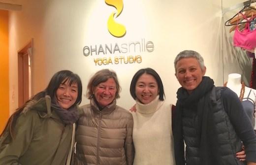 右よりマリア先生、スタッフ岩ちゃん、ジルさん、通訳の飯塚エミさん