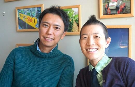 ヨガジェネレーション代表酒造博明と産婦人科医高尾美穂先生が笑顔で正面を向いてツーショット