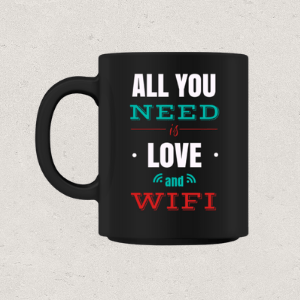 Love & Wifi Tasse