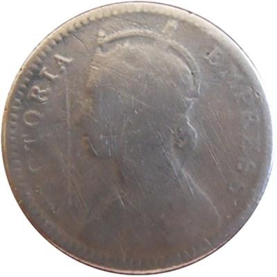 1882 1/4 Quarter Rupee Queen Victoria Empress RARE COIN