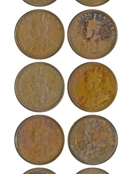1912 1917 1919 1928 1929 1933 1936 One Quarter Anna George V King Emperor