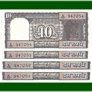"D29 1990-92 OLD 10 RUPEE UNC NOTE By S.Venkitaramanan with ""K"" Series"